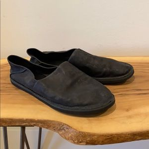 VINCE Black Leather Mule Loafer Slip On Shoes 8.5